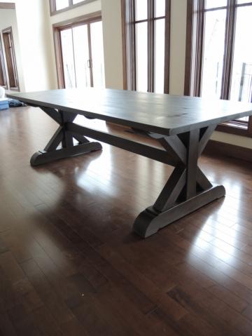 Table De Cuisine Base X Atelier Meuble Rustique