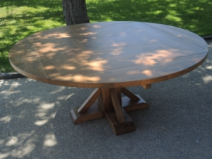 Round and square dining table
