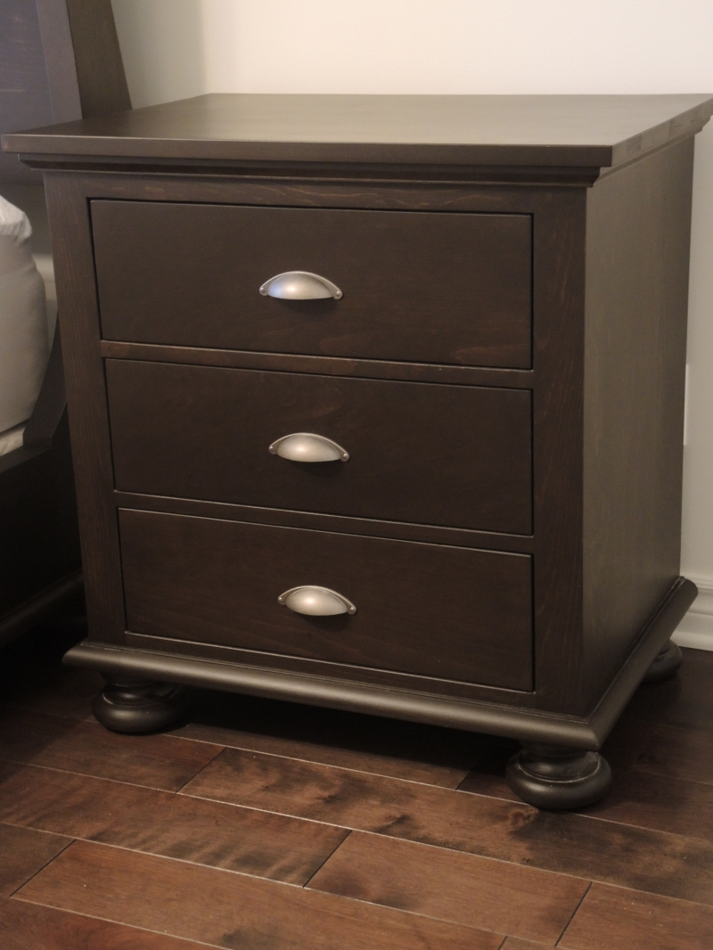 Lit et table de nuit atelier meuble rustique - Table de nuit rustique ...