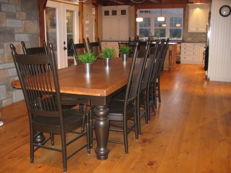 Table de cuisine en bois atelier meuble rustique - Table cuisine bois ...