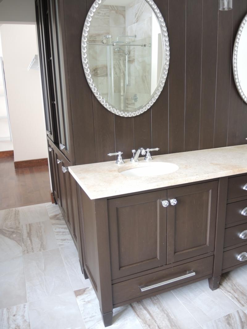 Vanit chambre de bain des ma tres atelier meuble rustique for Chambre de bain rustique