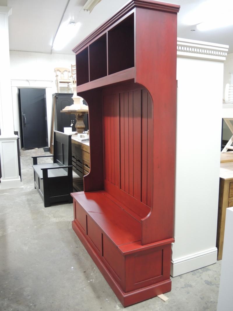 Banc d 39 entr e atelier meuble rustique for Liquidation meuble de cuisine