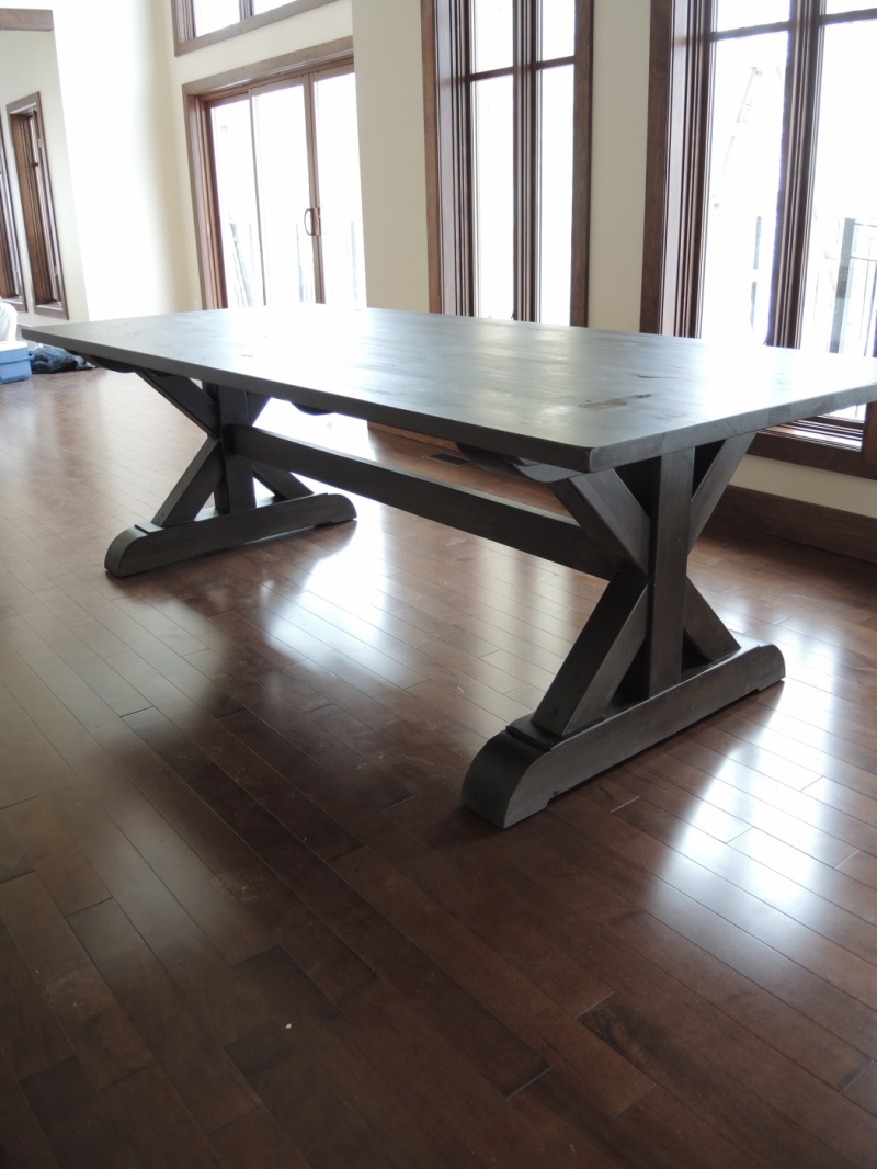 kitchen table base X - Atelier Meuble Rustique