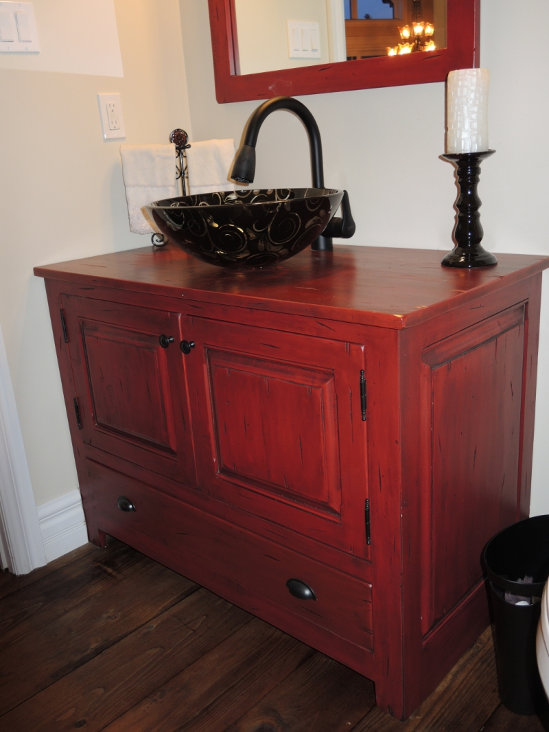 Liquidation Salle De Bain Quebec ~ vanit rouge atelier meuble rustique