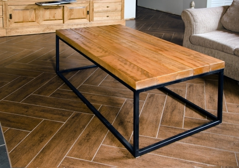 Table caf atelier meuble rustique for Brick meuble francais