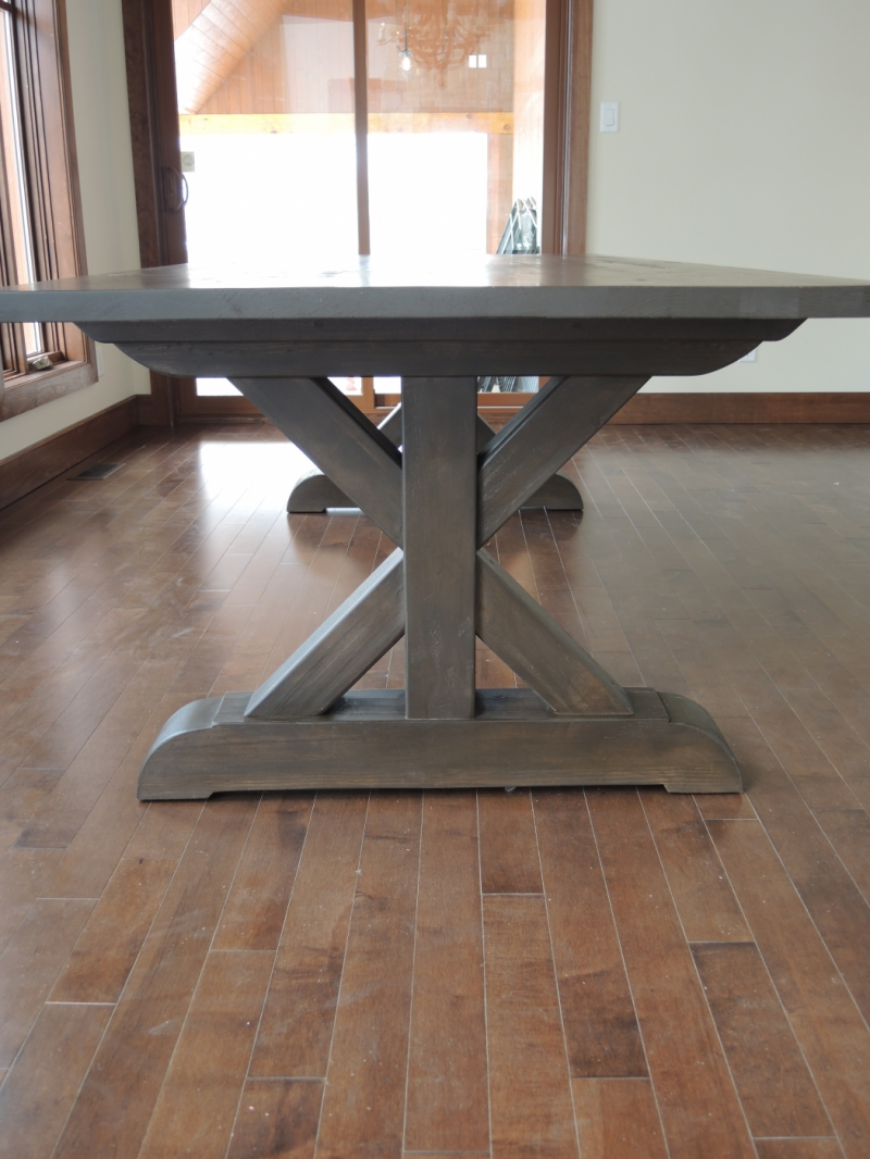 Kitchen table base x atelier meuble rustique - Kitchen table bases ...