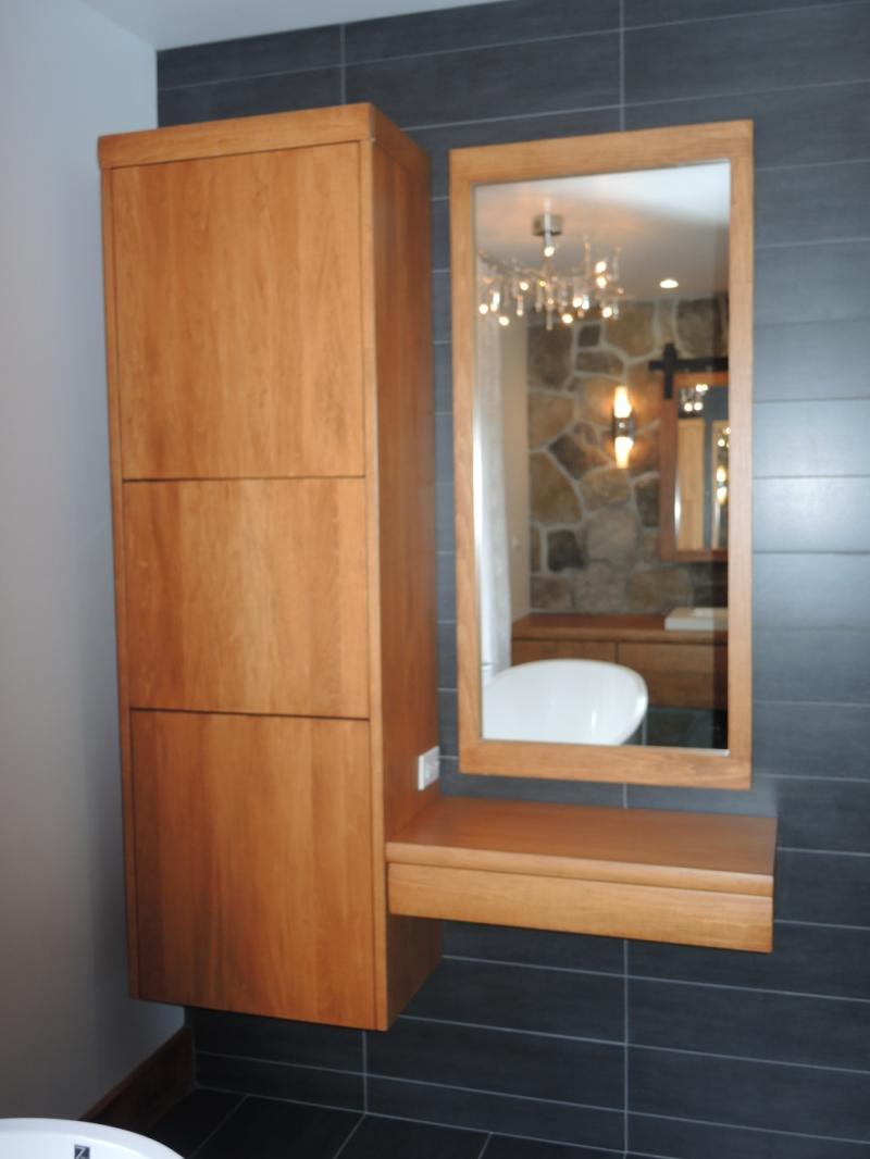 Vanit flottante atelier meuble rustique for Chambre de bain rustique
